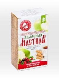 Пастила яблочная натуральная вегетарианская с клюквой