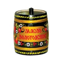 Масло сливочное Вологодское (бочонок с росписью)