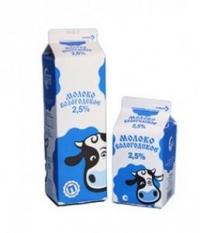 Молоко питьевое пастеризованное ГОСТ 2,5%