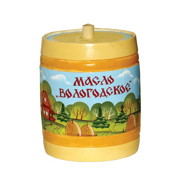 """Масло сливочное Вологодское (бочонок """"Пейзаж"""")"""