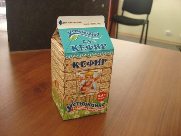 """Кефир 2,5% """"Устюжанка"""" 500 г."""