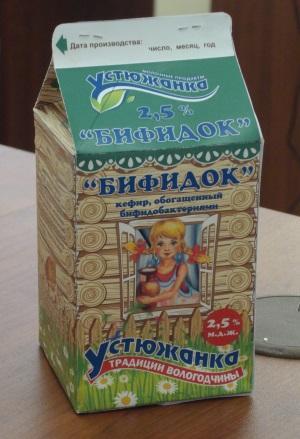 """Бифидок 2,5% """"Устюжанка"""" 500 г."""