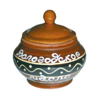 Масло сливочное Вологодское в керамическом горшке