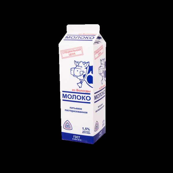 Молоко питьевое пастеризованное 950мл