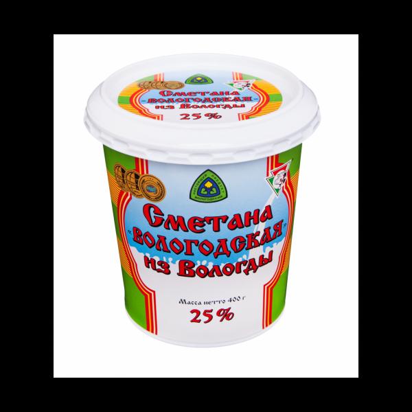 """Сметана """"Вологодская"""" 400 г 25%"""