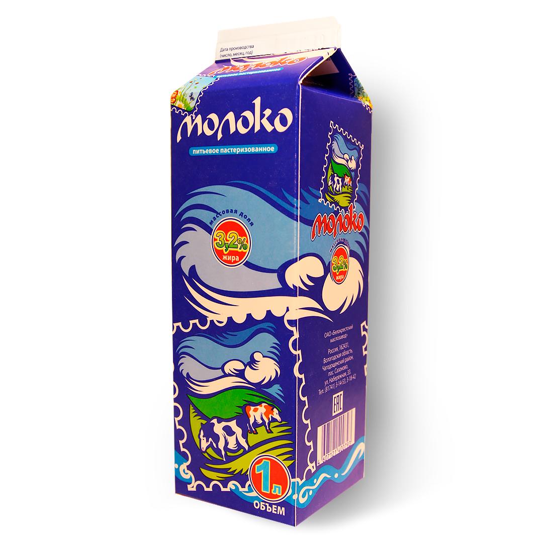 Молоко 3,2% 1л.