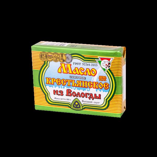 Масло сливочное Крестьянское 180г.