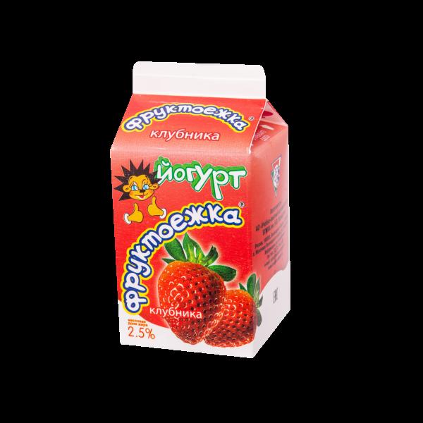 """Йогурт фруктовый """"Клубника"""" 470 г"""