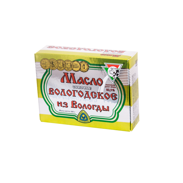 Масло сливочное Вологодское в масленке 180г