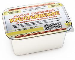 """Масло сливочное """"Крестьянское"""" 72,5%, 350 гр."""