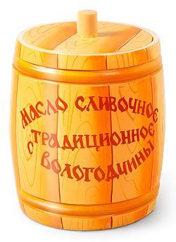 """Масло сливочное """"традиционное"""" в бочонке 450 гр."""