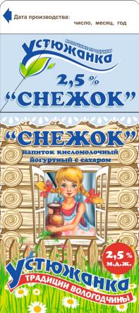"""Снежок 2,5% """"Устюжанка"""" 470 г."""