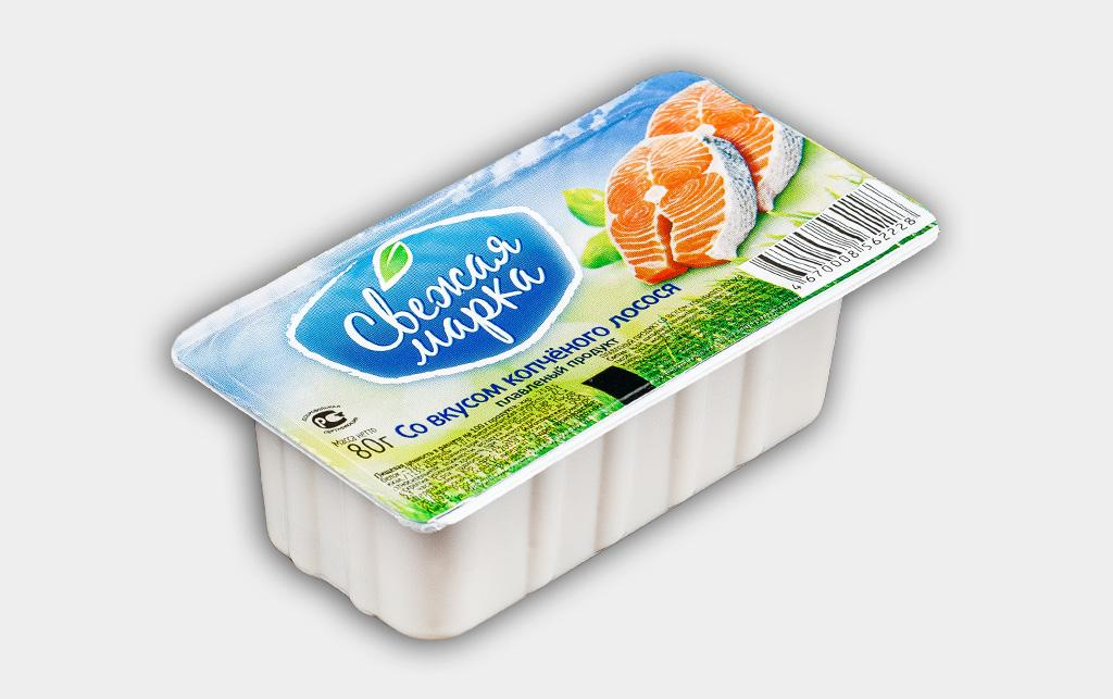 """Плавленый продукт """"Со вкусом копчёного лосося"""