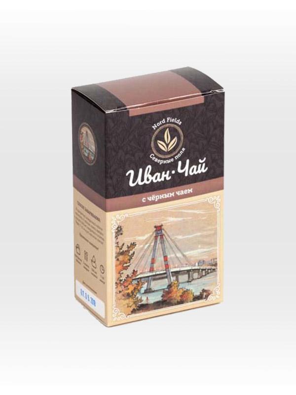 Иван-чай листовой ферментированный с чёрным чаем