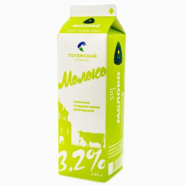 Молоко 3,2 950 мл.