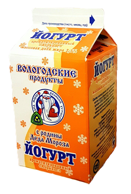 "Йогурт 2,5% ароматизированный ""Абрикос"""