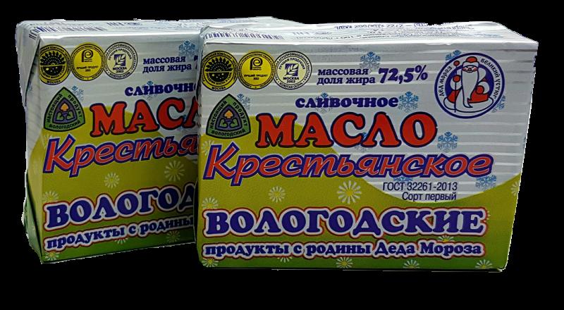 """Масло сливочное """"Крестьянское"""" 72,5%"""