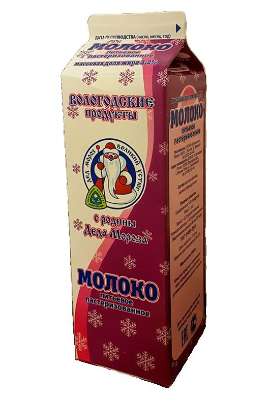 Молоко питьевое пастеризованное, 3.2%