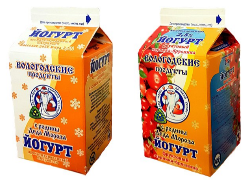 Йогурты МЗ «Устюгмолоко»