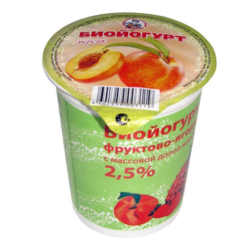 Биойогурт фруктово-ягодный 2,5%